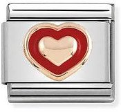 Nomination Rose Gold Red Frame Heart Charm