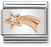 Nomination Rose Gold Shooting Star Charm