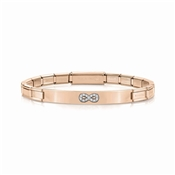 Nomination Trendsetter Rose Gold Infinity Bracelet