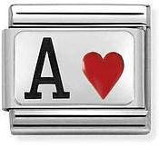 Nomination Silvershine Ace Of Hearts Charm