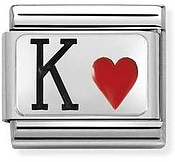 Nomination Silvershine King of Hearts Charm