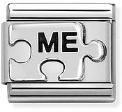 Silvershine Me Puzzle Piece Charm  by Nomination