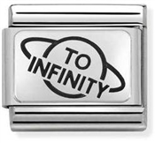 Nomination Silvershine To Infinity & Beyond Half Charm