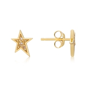 Argento Gold Crystal Star Earrings
