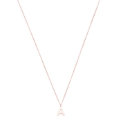 Argento Rose Gold Letter A Initial Necklace
