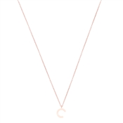 Argento Rose Gold Letter C Initial Necklace