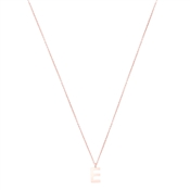 Argento Rose Gold Letter E Initial Necklace