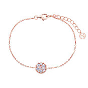 Argento Rose Gold Crystal Circle Bracelet