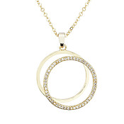 August Woods Gold Circle Crystal Link Necklace