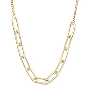 August Woods Gold Rectangle Link Necklace