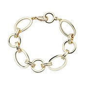 August Woods Gold Linked Oval Bracelet