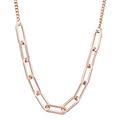 August Woods Rose Gold Rectangle Link Necklace