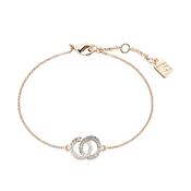 August Woods Rose Gold Crystal Link Circle Bracelet