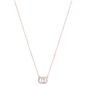 August Woods Rose Gold Crystal Link Circle Necklace