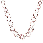 August Woods Rose Gold Interlinked Circles Necklace