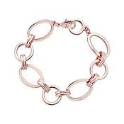 August Woods Rose Gold Linked Oval Bracelet