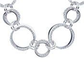 August Woods Silver Crystal Multi Loop Necklace