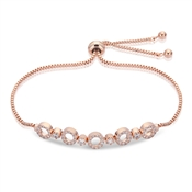 August Woods Rose Gold Circle Pull Bracelet