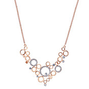 August Woods Rose Gold Mini Circle Necklace