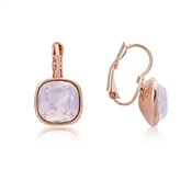 August Woods Rose Gold Rose Opal Square Earrings