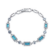 August Woods Arctic Aqua Crystal Bracelet