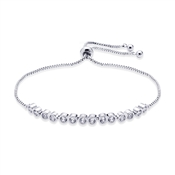 August Woods Silver Crystal Pull Bracelet