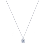 August Woods Silver Halo Drop Necklace