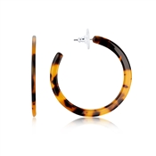 Dirty Ruby Gold Tortoiseshell Hoop Earrings