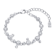 Silver Statement Crystal Drop Bracelet  by August Woods