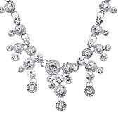 August Woods Silver Statement Crystal Drop Necklace
