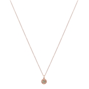 Argento Rose Gold May Halo Necklace