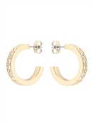 Ted Baker Gold Crystal Small Hoop Earrings