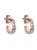 Ted Baker Rose Gold Crystal Huggie Hoop Earrings