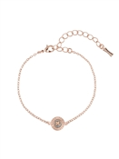 Ted Baker Rose Gold Glitter Button Bracelet