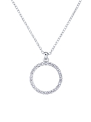 Ted Baker Silver Crystal Circle Necklace