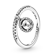Pandora Clear Sparkle Silver Ring