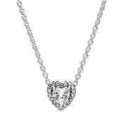 Pandora Elevated Heart Necklace