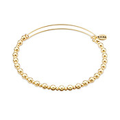 Karma Gold Core Beaded Bangle