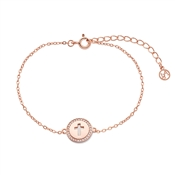 Argento Children's Rose Gold Cross Bracelet