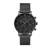 CLUSE Aravis Chrono Black Mesh Mens Watch