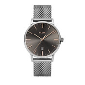 CLUSE Aravis Silver Mesh Mens Watch