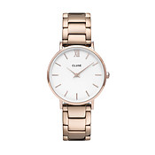 CLUSE Minuit Trio Link Rose Gold Watch