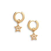 Olivia Burton Celestial Gold Star Huggie Earrings