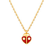 Kate Spade New York Red Ladybug Heart Necklace