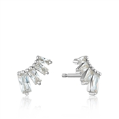 Ania Haie Silver Glow Bar Stud Earrings