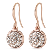 Pilgrim Classic Rose Gold Heather Drop Earrings