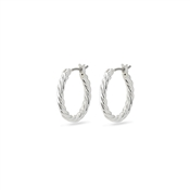 Pilgrim Classic Silver Cece Hoop Earrings