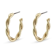 Pilgrim Gold Naja Hoop Earrings