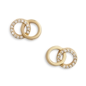 Olivia Burton Rose Gold Bejewelled Earrings