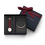 Daniel Wellington Red Suffolk 32mm & Bracelet Gift Set